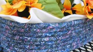 """Annabelle Baskets"" Collection Of Rag Baskets, Coiled"