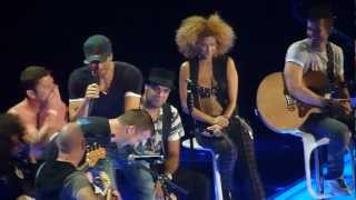 Enrique Iglesias - with Shirtless hugging guy - Live concert Minneapolis 2012