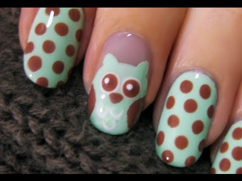 Cute Owl Nail Art, ♡⋅•⋅⋅•⋅♥⋅•⋅⋅•⋅