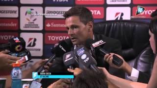 Diego Cocca. Racing 4 - Guaraní 1. Copa Libertadores 2015. .