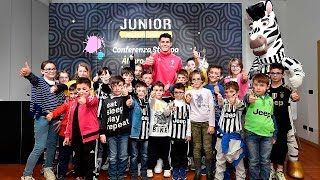 Alvaro Morata in conferenza con i Junior Member - Junior Member press conference