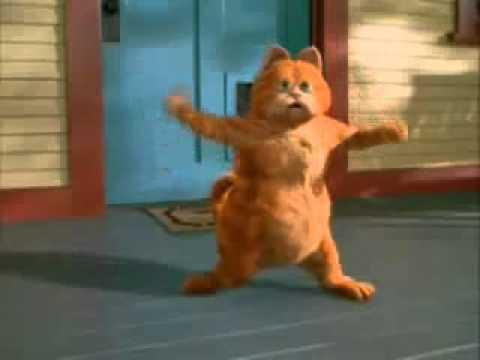 Garfield bailando sin parar
