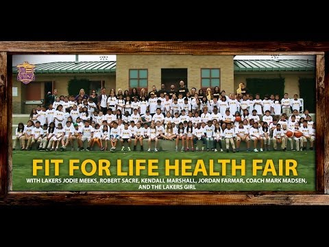 Lakers 2014 Fit For Life Health Fair: Jordan Farmar, Kendall Marshall, Jodie Meeks, Sacre