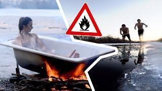 Let's pretend it's SUMMER   Hot Tub über'm Lagerfeuer DIY!