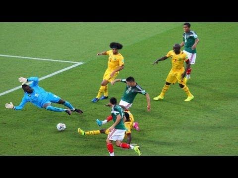 Gol de Oribe Peralta México 1-0 Camerun Narrado por