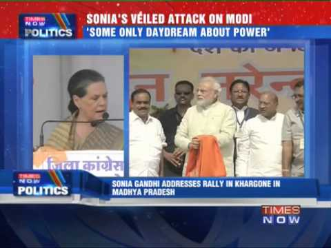 Sonia Gandhi's veiled attack on Narendra Modi