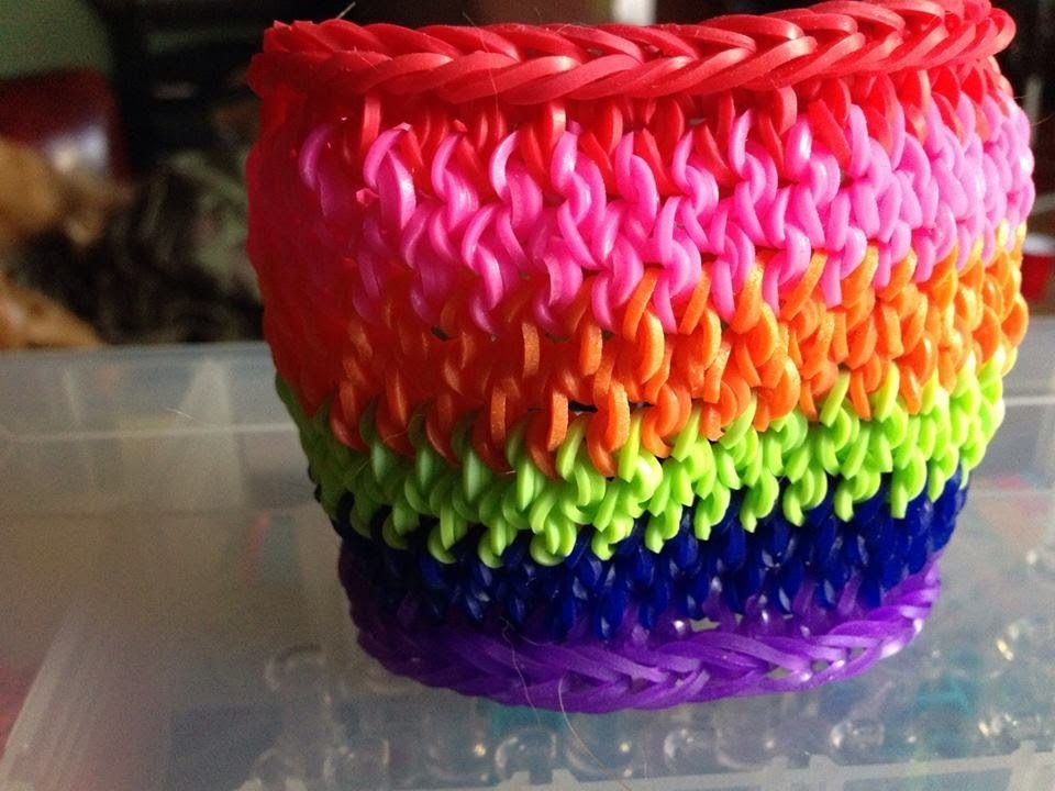 rainbow loom mustache tail cuff tutorial newest and