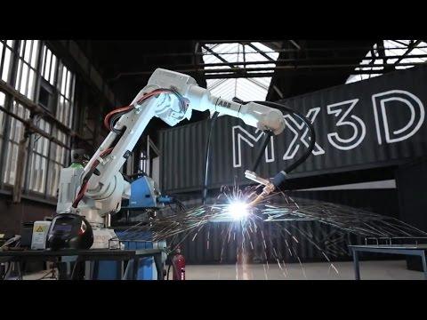Producing the world's first 3D-printed bridge by Joris Laarman