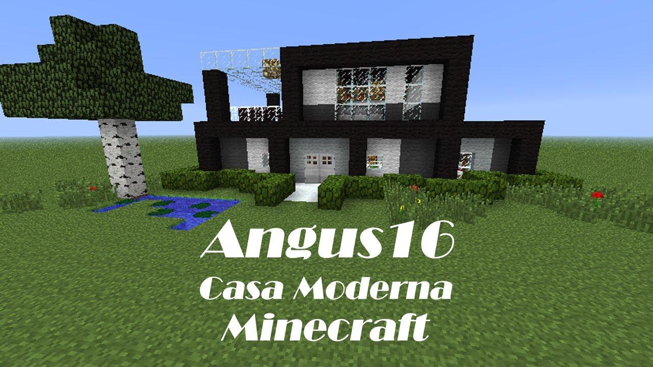 Minecraft construyendo casa moderna youtube for Casa moderna en minecraft pe 0 16 0