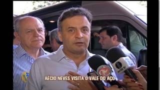 A�cio Neves visita Vale do A�o em campanha � presid�ncia