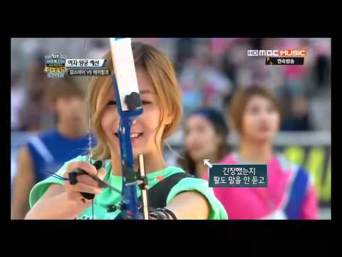 130928 偶像運動會 射箭 Idol Star archery Apink cut
