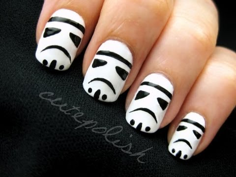 Stormtrooper Nails (feat. Darth Vader), www.facebook.com/cutepolish www.twitter.com/cutepolish Music by Kevin MacLeod