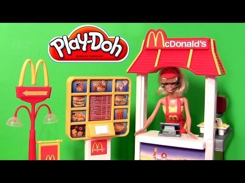 Play Doh McDonald's Barbie Drive-Thru Playset Lightning McQueen Mater Disney Pixar Cars Playdoh