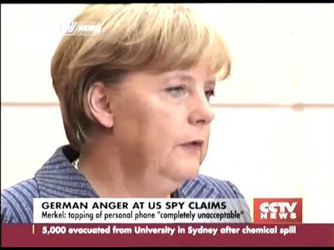 German anger at US spy claims