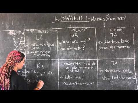 Video #14 - GO! presents: BEST Swahili Tutorials - MAKING SENTENCES (live from Tanzania)