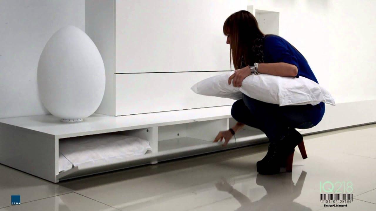 Letti a scomparsa erba mobili modello iq by bianchi for Letti bianchi