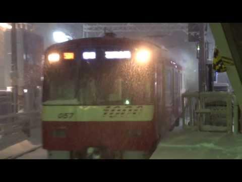 【鉄道のある風景】東京地方 大雪で鉄道混乱 Heavy snow warnings issued for Tokyo