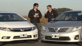 Honda Civic EXS / Toyota Corolla SEG Comparativo Caja