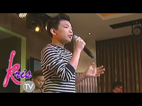Darren tries singing Whitney Houston's 'Try It On My Own'