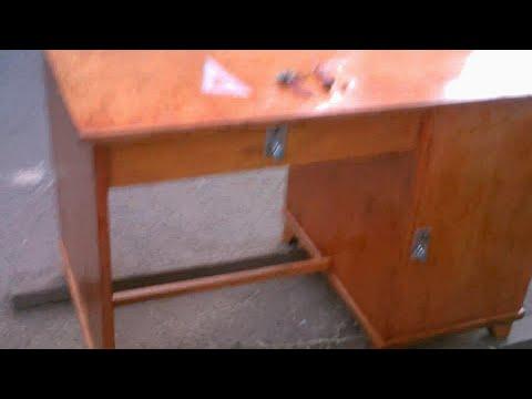 Как реставрировать письменный старый стол своими руками 654
