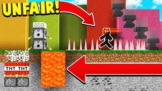 IF MINECRAFT WAS IMPOSSIBLE! (Unfair Minecraft)