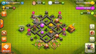 Clash Of Clans Best Town Hall 4 Defense! (Base Design