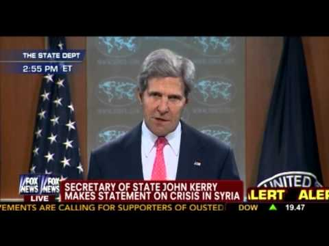 John Kerry Statement On Syria FULL!