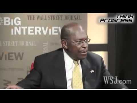 "Herman Cain: ""If You Don't Have A Job And You're Not Rich, Blame Yourself"""