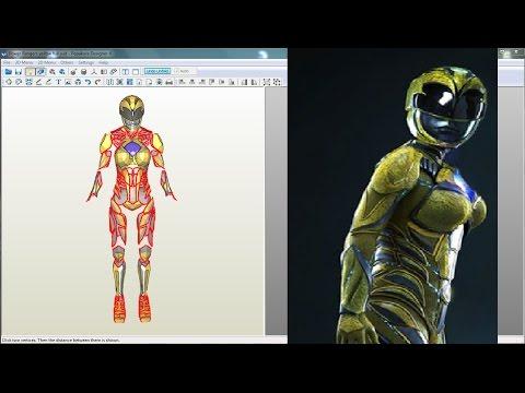 Power Rangers 2017 - Yellow Ranger Suit - Pepakura Files