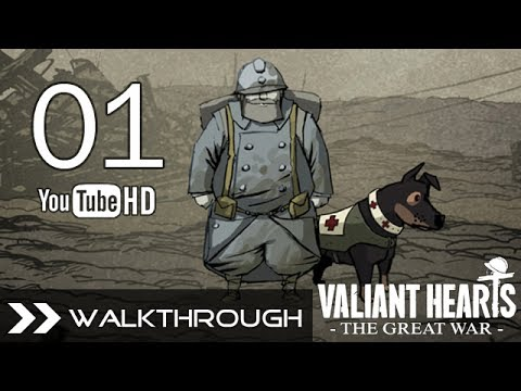 Valiant Hearts: The Great War - Gameplay Walkthrough Part 1 No Commentary (PC PS4 PS3 Xbox One 360) HD 1080p