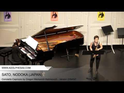 Dinant 2014 - SATO Nodoka (Concierto Capriccio by Gregori Markovich Kalinkovich - Version DINANT)
