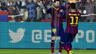 (PS4) Fifa 14 Online Gameplay Barcelona Vs Bayern Munich HD