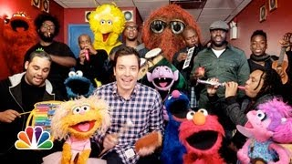 Jimmy Fallon, Sesame Street Muppets & The Roots Sing the Sesame Street Theme Song