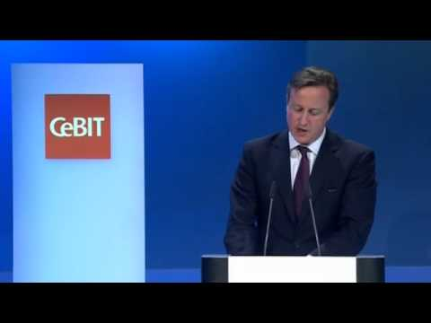 Cameron and Merkel Open CeBIT Tech Fest