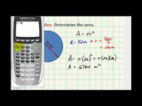 Determine the Area of a Circle
