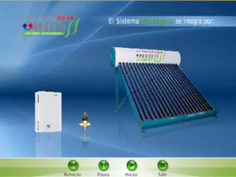 Calentador ecologico solar