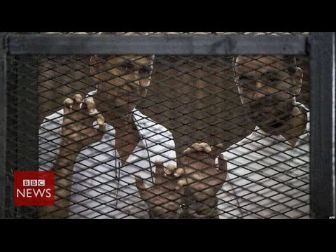 Why did Egypt jail Al Jazeera's journalists? In 60 seconds - BBC News