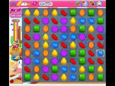 How to beat Candy Crush Saga Level 447 - 3 Stars - No Boosters - 206