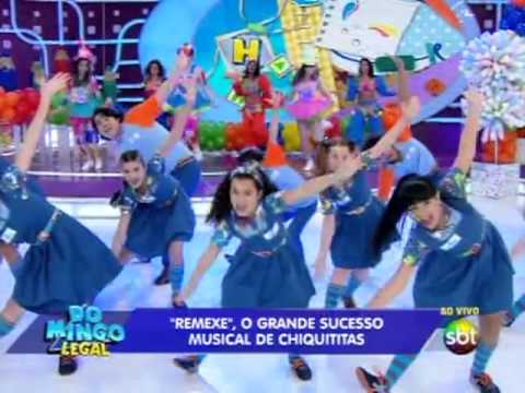 Domingo Legal (13/10/13) - Chiquititas cantam e dançam Remexe no palco