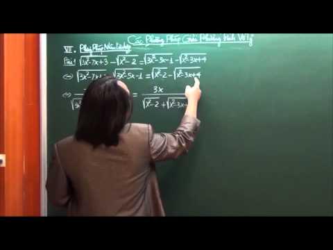 Các phương pháp giải phương trình vô tỷ - Thầy Trần Phương