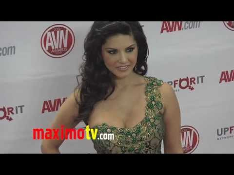 Sunny Leone at 2012 AVN AWARDS Show Red Carpet Arrivals