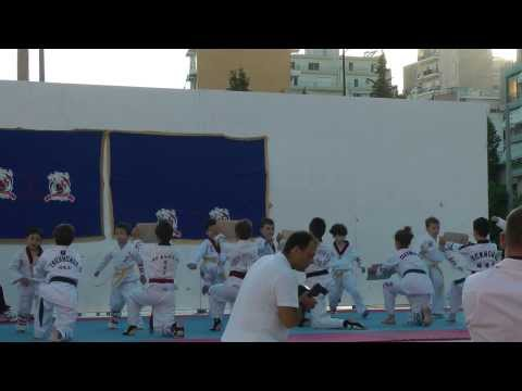 TAEKWONDO DEMONSTRATION BY KIKI CHATZOGIANNAKI, PERAMA, 20-6-2012. (PART 1).