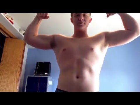 14 year old bodybuilder posing!