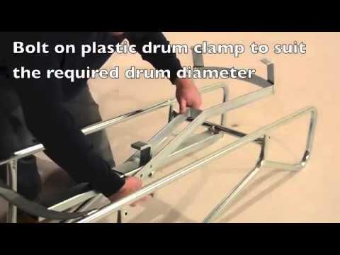 British Pallet loading drum truck with bar handles