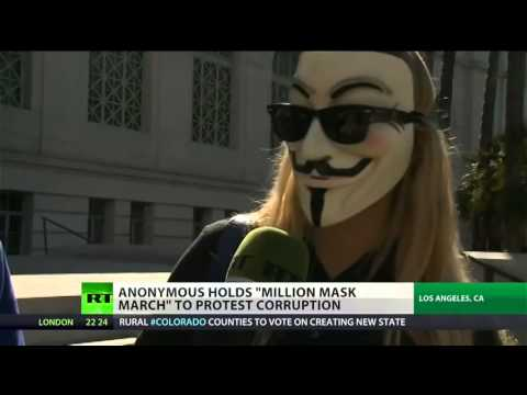 Anonymous calls for  Million Mask March  protest around the world