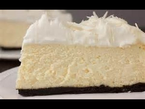 MALIBU COCONUT RUM CHEESECAKE on OREO CHOCOLATE CRUST