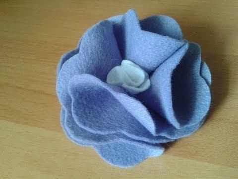 Flor de Feltro -Tutorial de Flor