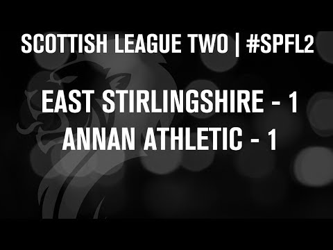 #SPFL League Two | East Stirlingshire 1-1 Annan Athletic | 07/12/13