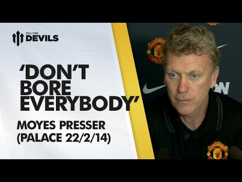 'Don't Bore Everybody!' | Press Conference | Crystal Palace vs Manchester United