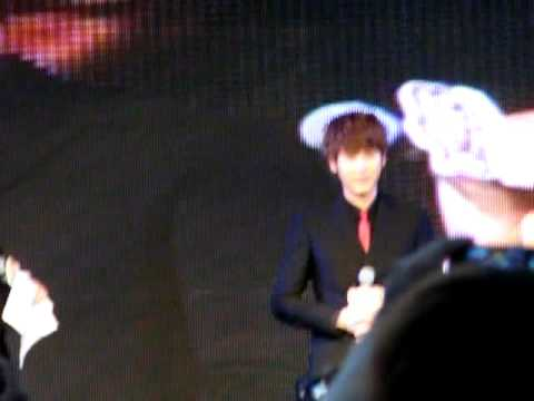 [Fancam] 110615 Kyuhyun speak Thai @ Masita Press Conference